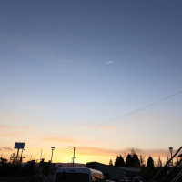 飛行機雲 関空
