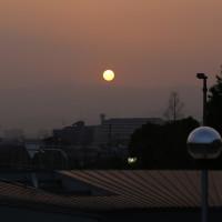 関空から朝焼け